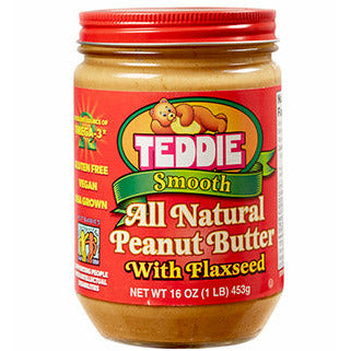 Teddie Natural Smooth Peanut Butter with Flaxseed 453gr