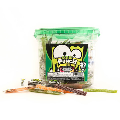 sour punch monster mix 210pcs (1.2kg)