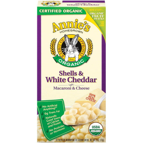 Annie's Mac & Cheese Shell White Cheddar