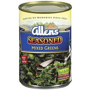 Allens Seasoned Mixed Greens 750gr