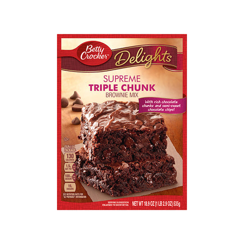 Betty crocker triple chunk brownie