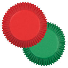 Wilton Red and Green Standard Baking Cups