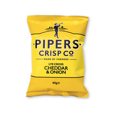 Pipers crisp co cheddar & Onion 150gr