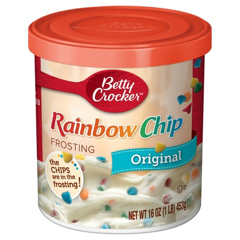 betty crocker frosting rainbow chips 450gr