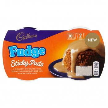 cadbury fudge sponge pudding (2 Puds) 95gr