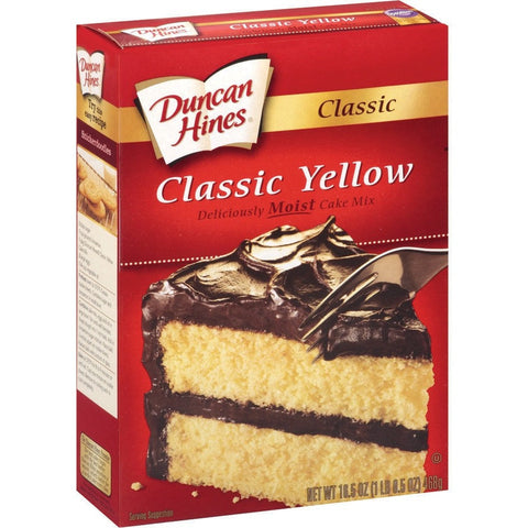 Duncan Hines Deluxe Yellow Cake (470gr)