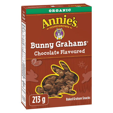 annie's chocolate bunny grahams 215gr