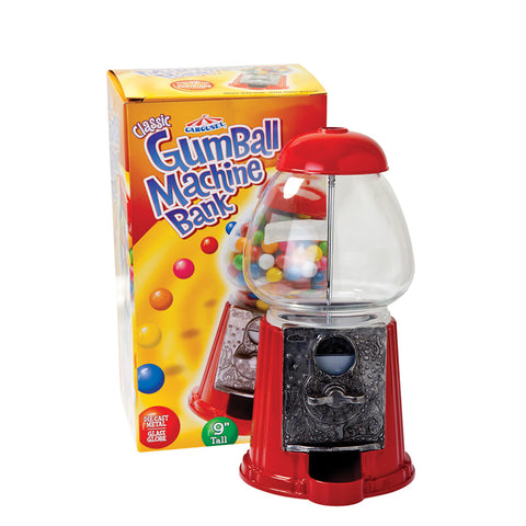 christmas bubble gum machine bank (metal machine)(20cmhigh)