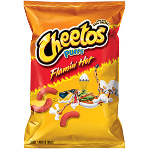 Cheetos Puffs Flammin Hot (UK) 8x13gr