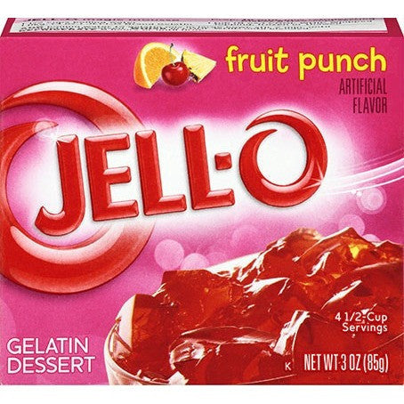 Jell-o Fruit punch 3oz (85gr)