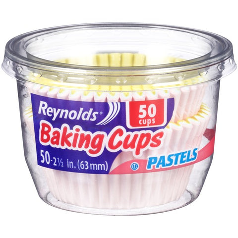 Reynolds Baking cup Pastels 50pcs (63mm/2,1/2inch)