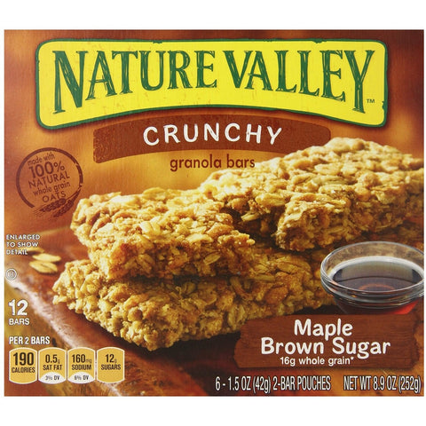 Nature Valley Maple Brown Sugar ( 5x 2bars) 220gr