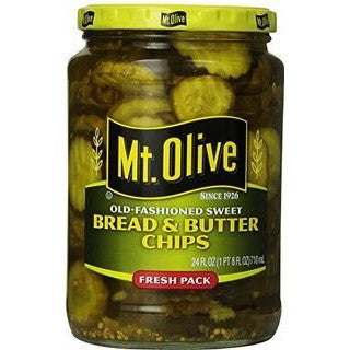 Mt Olive Bread & Butter Chips 670gr