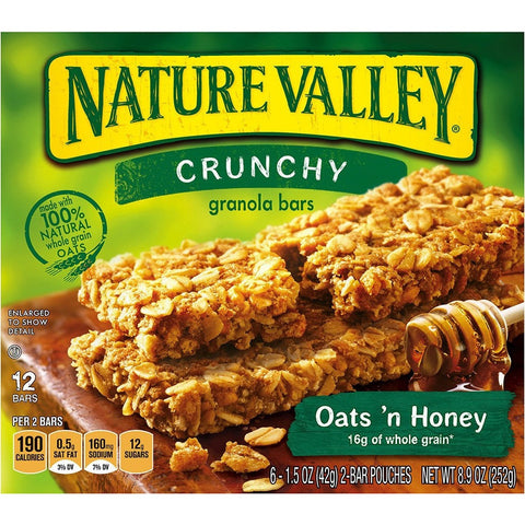 Natural Valley Oats & Honey (5 x 42gr) 10 bars