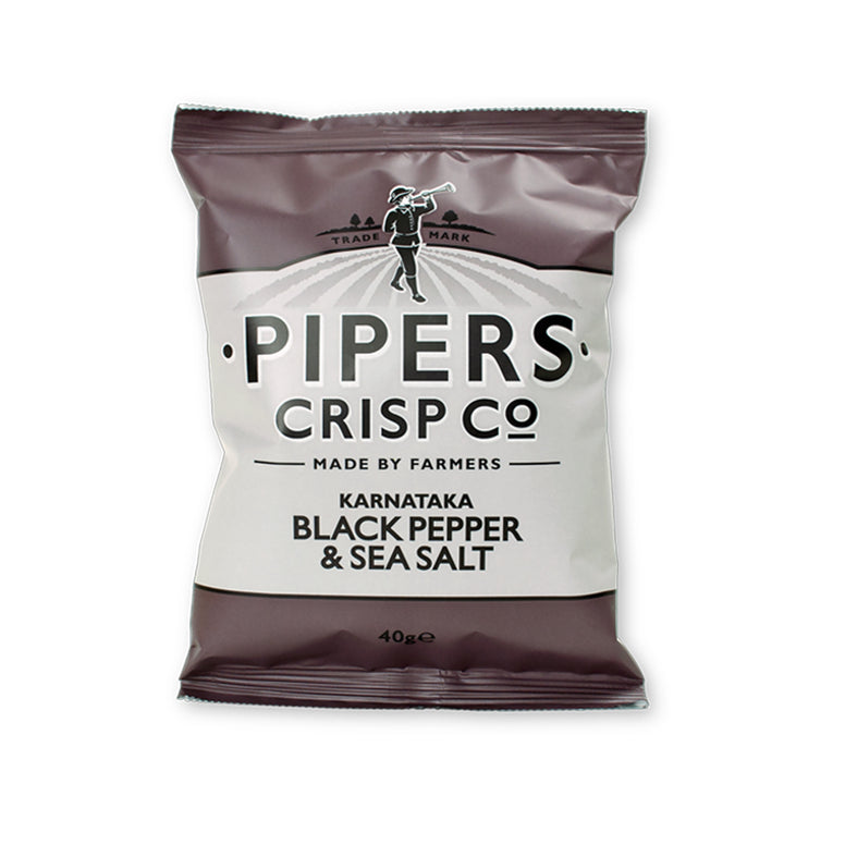 pipers crisp co black pepper & sea Salt 150gr (UK)