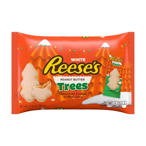 hershey xmas white reeses peanut butter tree 220gr