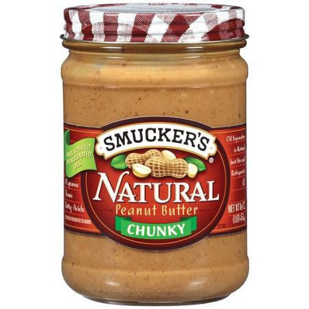 Smucker Peanut Butter Natural Chunky (455gr)