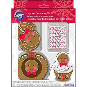 Wilton Gingerbread Boy Cupcake Deco Kit 24pcs