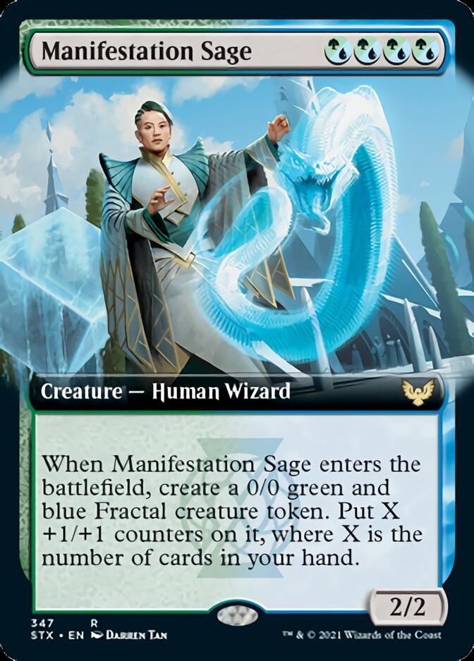 Manifestation Sage (Extended) [Strixhaven: School of Mages] | Robs MTG Auctions