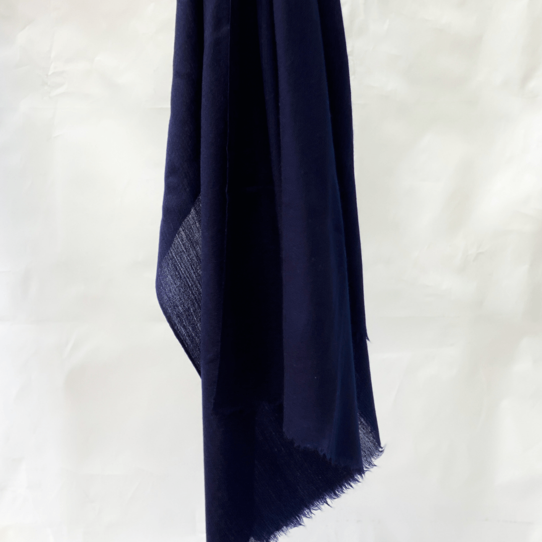 Pashmina Scarf - Midnight Blue - Diagonal Horizon