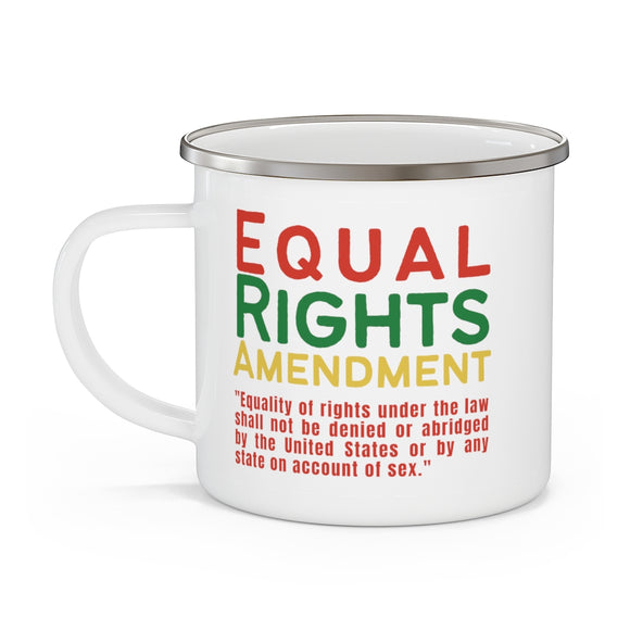 Equal Rights Amendment Enamel Camping Mug
