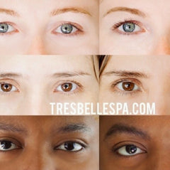 tres belle spa lash tint before and after
