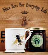 Bee d'Astier ceramic mug by Villatte from the John Derian collection.