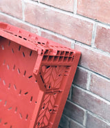 Foldable Crate Tile Red Midi