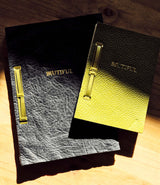 Biutiful creative Studio leather notebooks, composed of 50 plain paper pages, available in two sizes, A5 or A6.