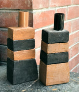 Lot of 2 Key Candle Holders in Terracotta by Bloomingville.