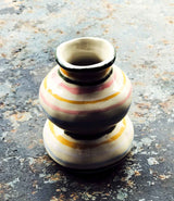 Multicolored striped vase by & klevering.
