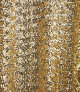 Straight, fluid and wide pants with elastic waist, in gold sequins by Oséree.