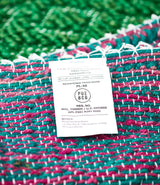 Green and Pink Jute Rug