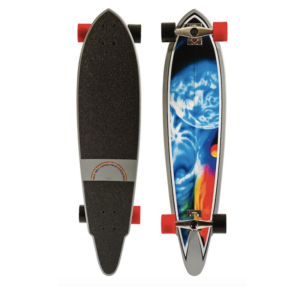 "HB SKATEBOARD - LONGBOARD 38"" Cosmic Wheel"