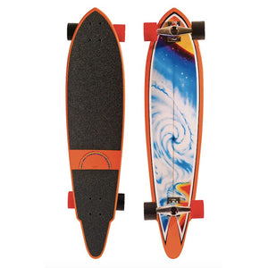 "HB SKATEBOARD - LONGBOARD 38"" White Eagle"