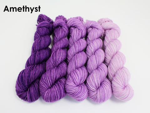gradient yarn amethyst