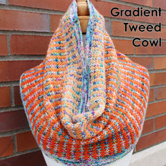 Gradient Tweed Cowl