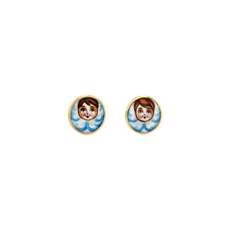 Blue Angels Stud Earrings
