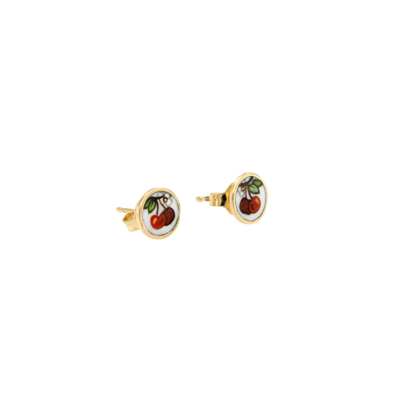 Cherry Enamel Earrings