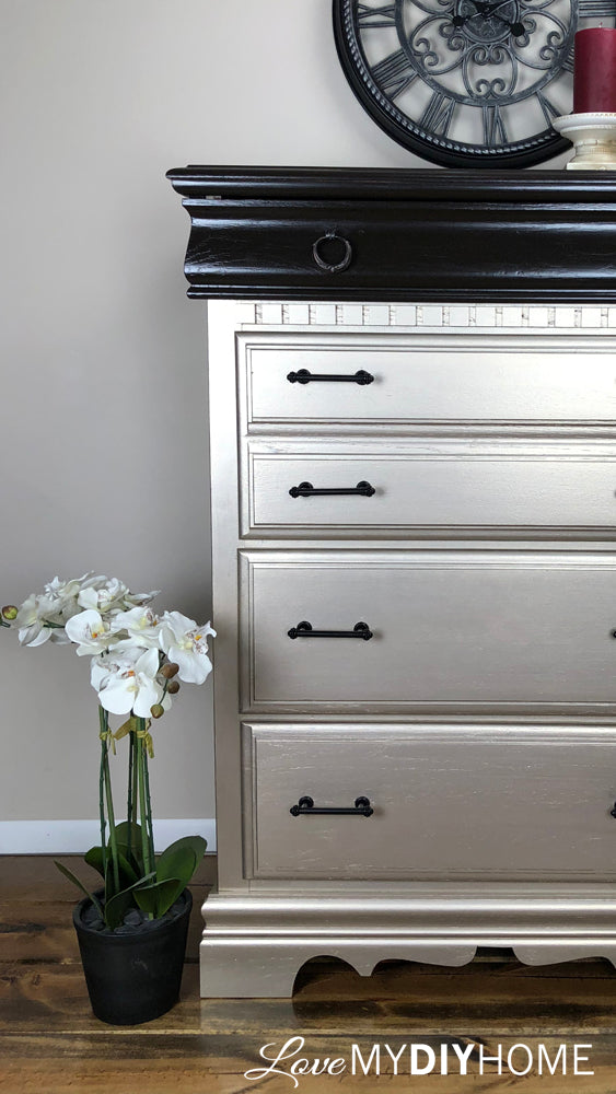 A Shiny New Dresser for Our Master - Retique It Liquid Wood