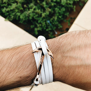 Pale White - Anchor Bracelet - Bahr in UAE