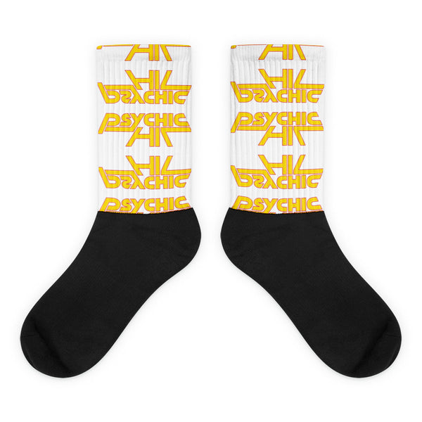 Psychic Hit Socks with Yellow Logo