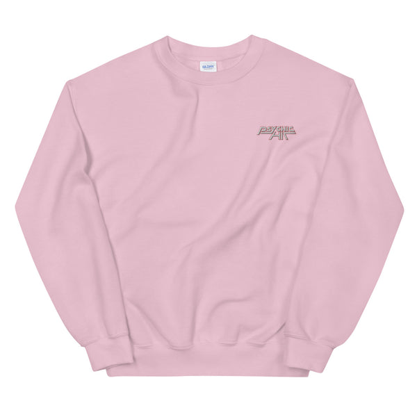 Psychic Hit Pink Sweatshirt with Embroidered Logo