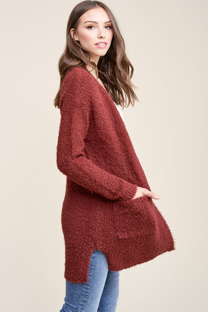Cove Faux-Mohair Super Soft Duster Cardigan - Copper