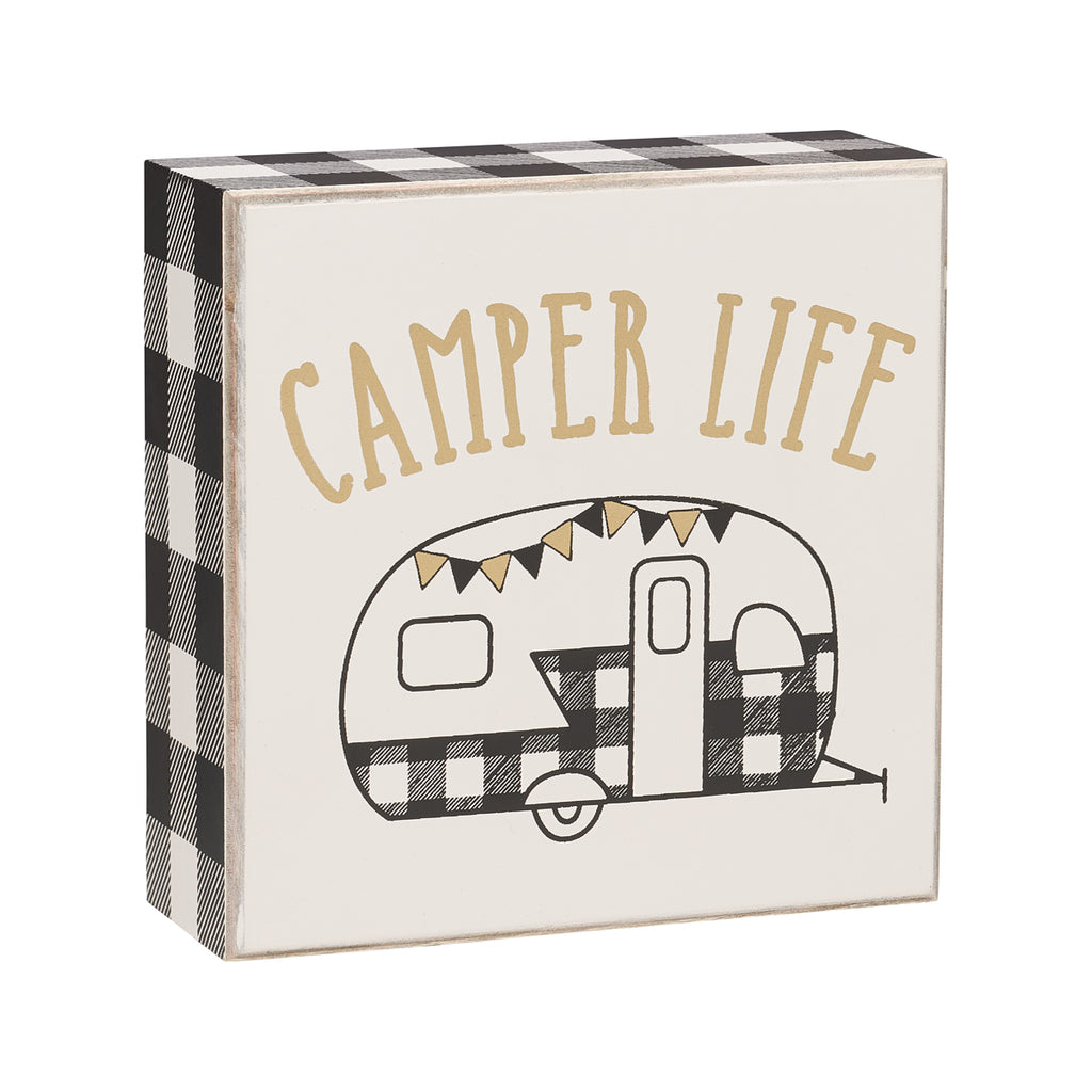 Camper Life Box Sign