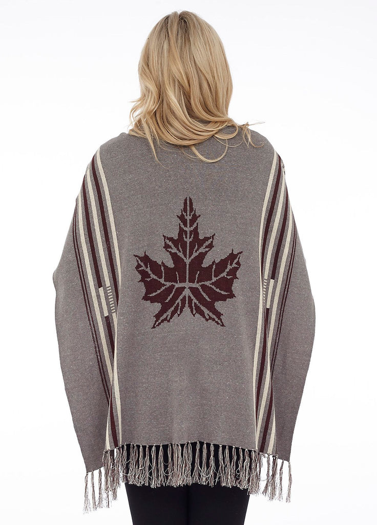 Cottage Collection Canadiana Cape - Heather w/ Cream and Burgundy
