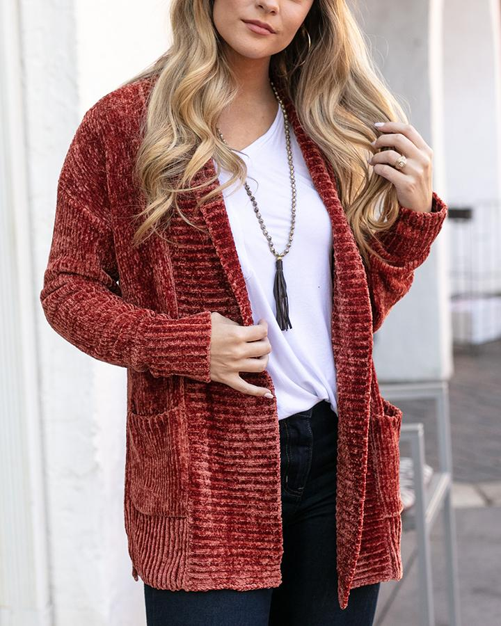 G&L Chenille Cardigan - Mulled Cider
