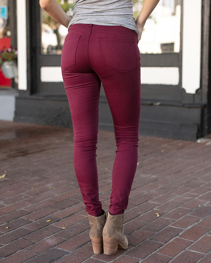 G&L Colored Jeggings - Wine