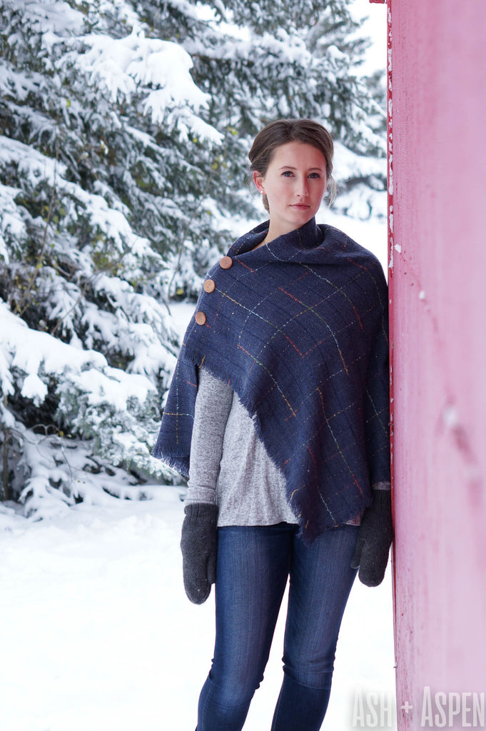 Ash + Aspen Square Blanket Scarf - Willow
