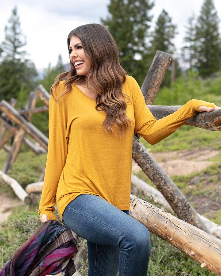 G&L Easy Slub Lounge Top  - Mustard